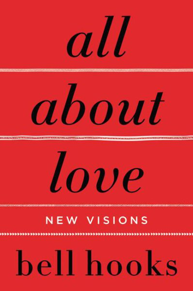 book cover bell hooks. all about love